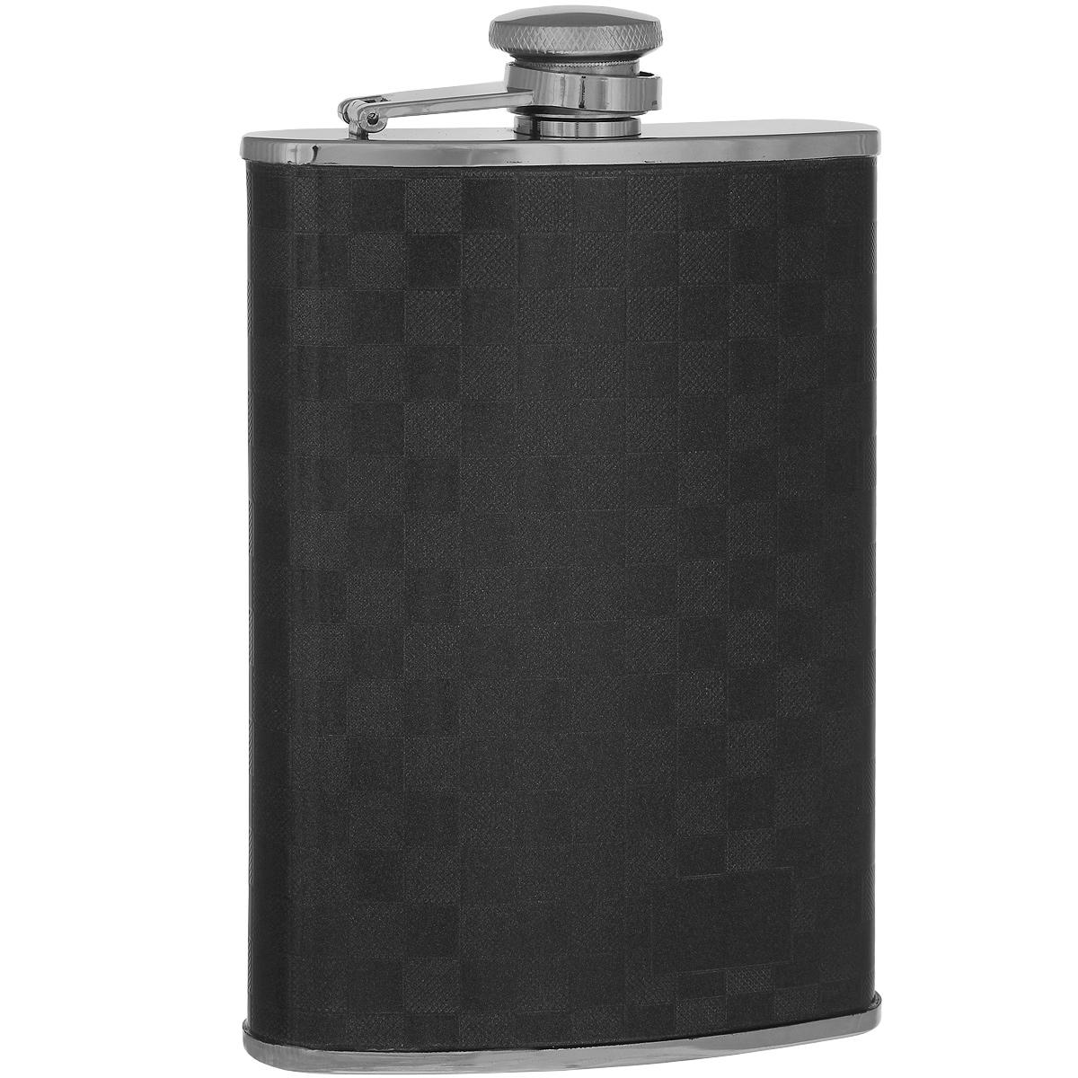 Фляга S.Quire, 270 мл. 1709YX-3-BLK1709YX-3-BLKФляга S.Quire изготовлена из нержавеющей стали 18/10 и оформлена шахматным рисунком. Фляга специально предназначена для хранения алкогольных напитков. Ее нельзя использовать для напитков, содержащих кислоту, таких как сок и сердечные лекарства. Крышка плотно закрывается, предотвращая проливание. Фляга S.Quire - идеальный подарок для настоящих мужчин. Стильный дизайн, компактность и качество изделия, несомненно, порадуют любого мужчину.