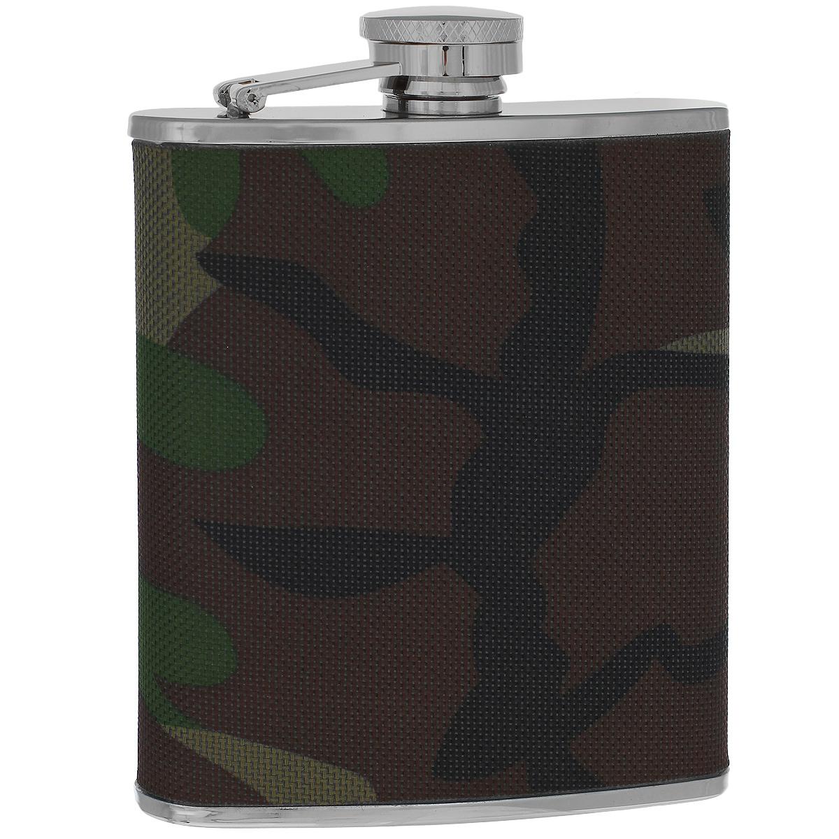 Фляга S.Quire Камуфляж, 180 млTB06-3411NФляга S.Quire изготовлена из нержавеющей стали 18/10 и оформлена текстильной вставкой с рисунком камуфляж. Фляга специально предназначена для хранения алкогольных напитков. Ее нельзя использовать для напитков, содержащих кислоту, таких как сок и сердечные лекарства. Крышка плотно закрывается, предотвращая проливание. Фляга S.Quire - идеальный подарок для настоящих мужчин. Стильный дизайн, компактность и качество изделия, несомненно, порадуют любого мужчину.