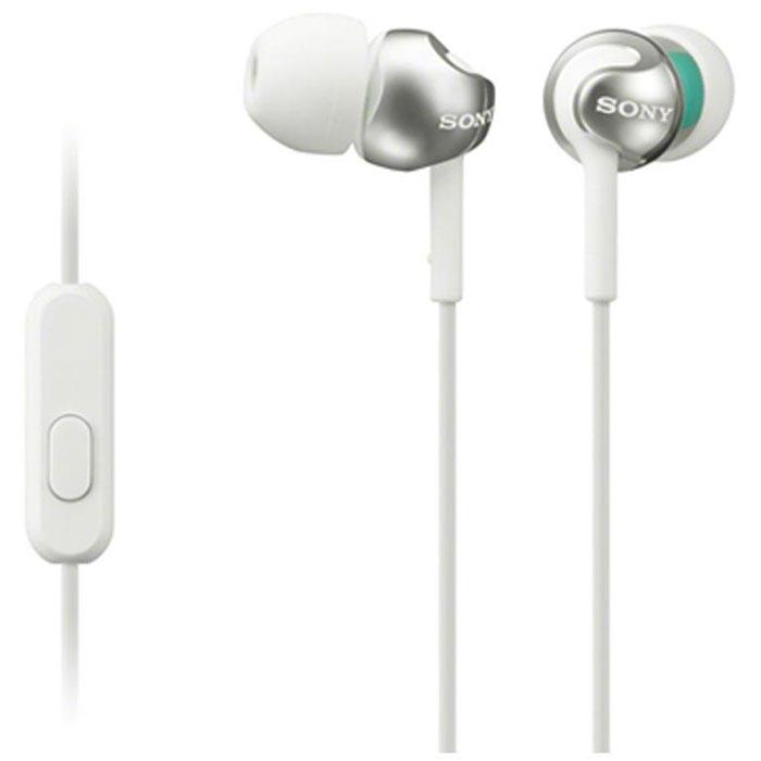 Sony MDR-EX110APW, White гарнитураMDR-EX110APWГарнитура Sony MDR-EX110AP оснащена неодимовыми мембранами для воспроизведения динамичного звука. Удобные силиконовые ушные вкладыши гарантируют комфортное использование в течение долгого времени. Встроенный микрофон позволяет принимать звонки и управлять воспроизведением музыки.