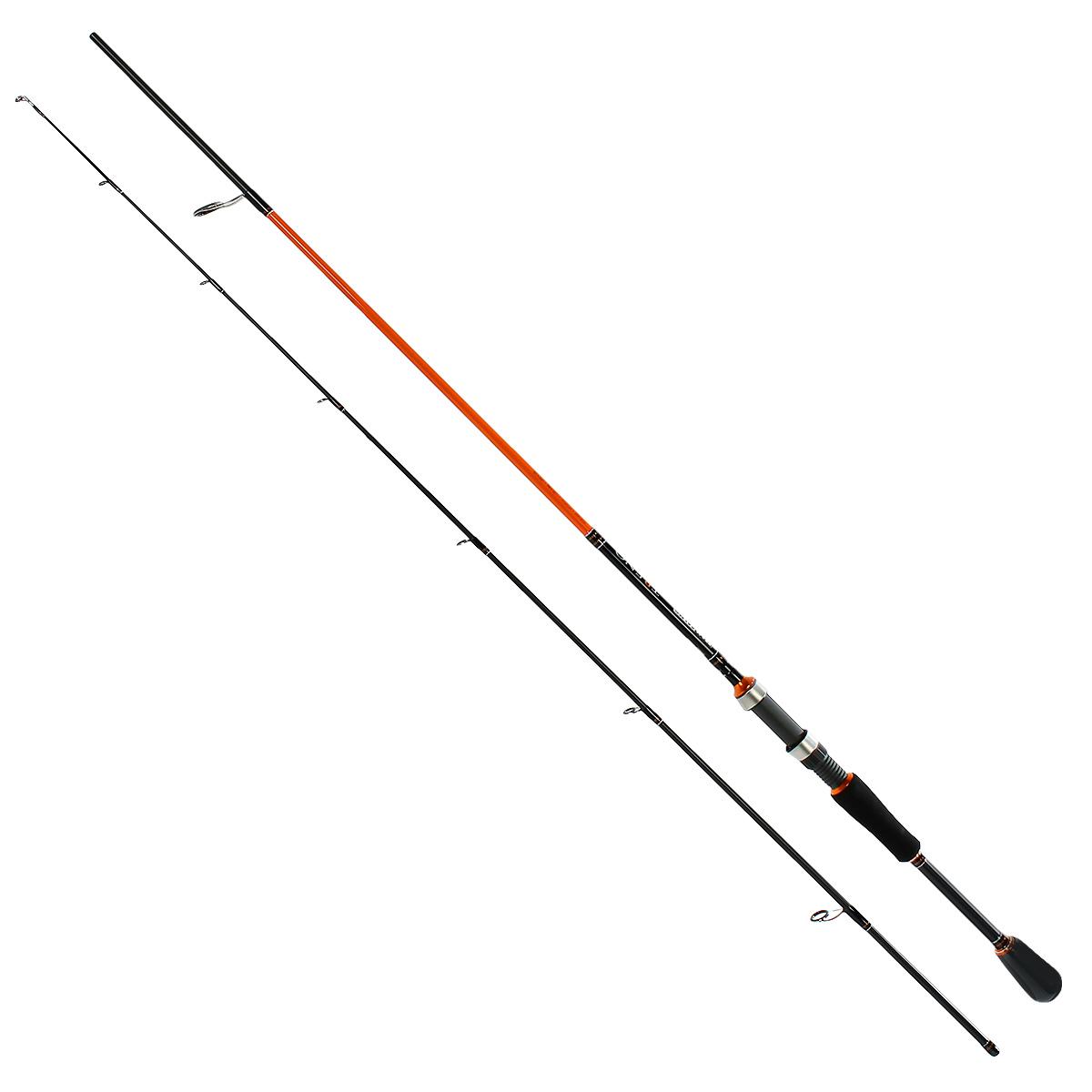 Удилище спиннинговое Team Salmo TRENO, 2,07 м, 8-28 гTSTR3-682EFСерия спиннингов TRENO разработана специально для ловли хищной рыбы твичингом и на джиг-приманки. Бланки этой серии изготовлены из усовершенствованного высокомодульного графита 40T, обеспечивающего максимальную прочность, а также высокую чувствительность по всему заявленному тестовому диапазону. Строй бланков быстрый и экстра быстрый. Бланк в основании достаточно толстый, что дает преимущества не только при вываживании крупной рыбы, но и при рывковой проводке воблеров. Несмотря на относительно небольшую длину, спиннинги TRENO обладают отличными бросковыми характеристиками. Спиннинги укомплектованы пропускными кольцами Fuji K-guide со вставками SIC. Наклоненные колечки на вершинке - раннинги и противозахлестный тюльпан, не позволят запутаться за них в сильный ветер даже мягкому PE шнуру. В элегантной и практичной разнесенной рукоятке, из прочного материала EVA, установлен катушкодержатель VSS от Fuji с задней гайкой крепления. Материал ручек жесткий и приятный на ощупь.