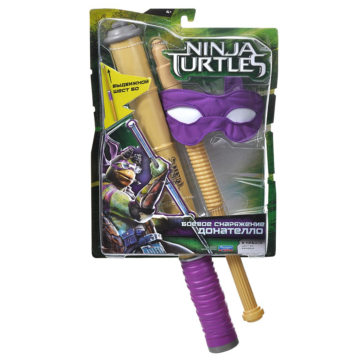 Игровой набор Turtles Боевое снаряжение Черепашки-Ниндзя: Донателло, 2 предмета. 92900_92902 игровой набор turtles боевое снаряжение черепашки ниндзя микеланджело 4 предмета