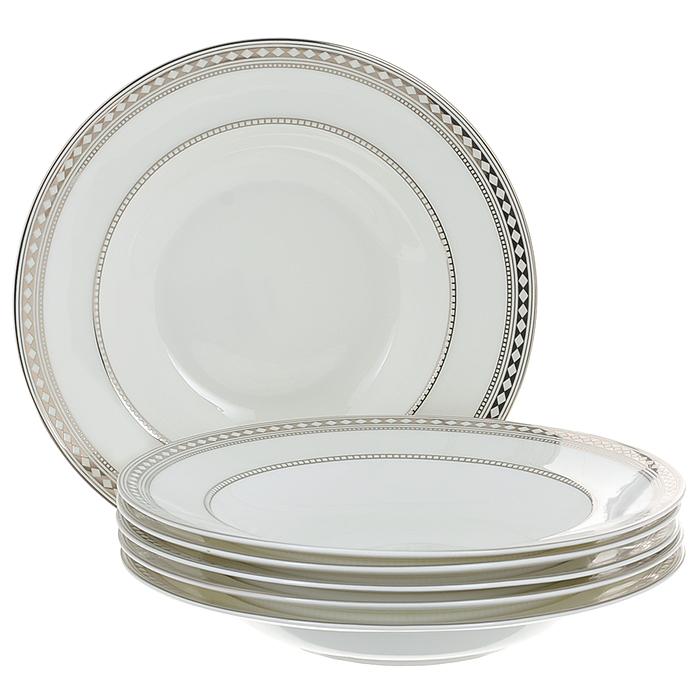 Набор суповых тарелок Esprado Geometria, диаметр 23 см, 6 шт посуда из фарфора оптом