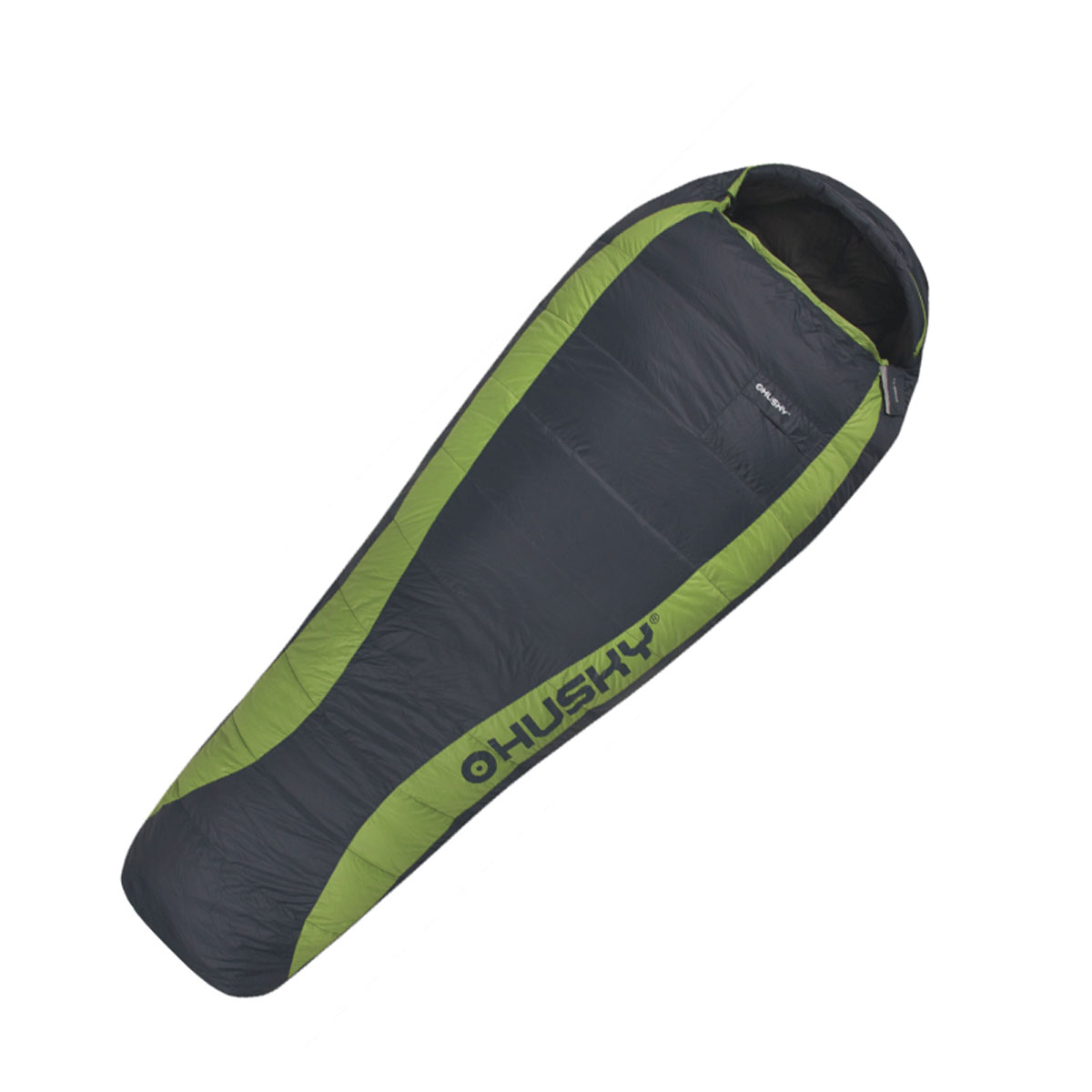 Спальный мешок Husky Dinis, левосторонняя молния, цвет: серый, зеленый плащ husky husky hu011ewqrr50