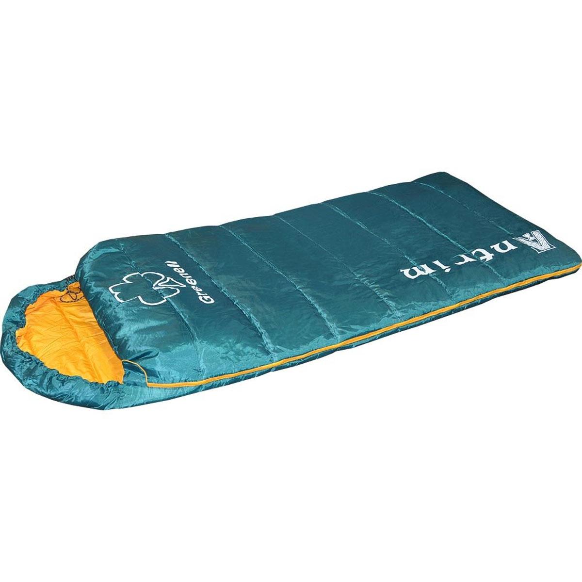 Спальный мешок Greenell Антрим, правосторонняя молния, цвет: зеленый34013-303-00Летний спальник Greenell Антрим изготовлен в форм-факторе мешок-одеяло с подголовником. Антрим имеет большой внутренний объем и ориентирован на использование людьми, крупной комплекции, а для капризных путешественников, любящих особый комфорт это единственный и необходимый вариант для полноценного ночлега! Легкий спальник Greenell Антрим имеет удобный кармашек внутри для личных вещей, очков, контактных линз и другой ночной атрибутики. В свернутом виде спальник помещается в компрессионный мешок и занимает минимум места в рюкзаке или багажном отделении автомобиля.Ткань верха спального мешка обработана влагостойкой пропиткой. Гиппоалергенный материал утеплителя холлофайбер не сминается, быстро сохнет и обладает отличными теплосберегающими свойствами. Особое расположение швов предотвращает миграцию утеплителя внутри спального мешка.При необходимости двухзамковая молния позволяет состегнуть два однотипных спальника, образуя просторную спарку для отдыха всей семьей. Материал верха: 210T Polyester Honey Ripstop Cire W/R. Материал подкладки: 240T Polyester Pongee.