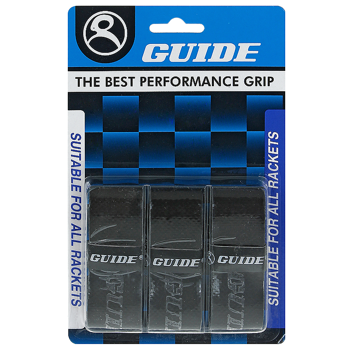Обмотка для ракетки Guide Replacement Grip, цвет: черный, 3 шт362 #HC-6WS blackОбмотка Guide имеет среднюю толщину, отлично впитывает влагу, а также наделена противоскользящим свойством. Она не уступает по качеству продукции компании Yonex, опережая по показателям другие мировые бренды.
