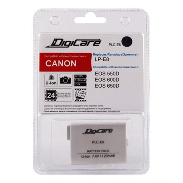 DigiCare PLC-E8 аккумулятор аккумулятор digicare plc e8 lp e8 для canon