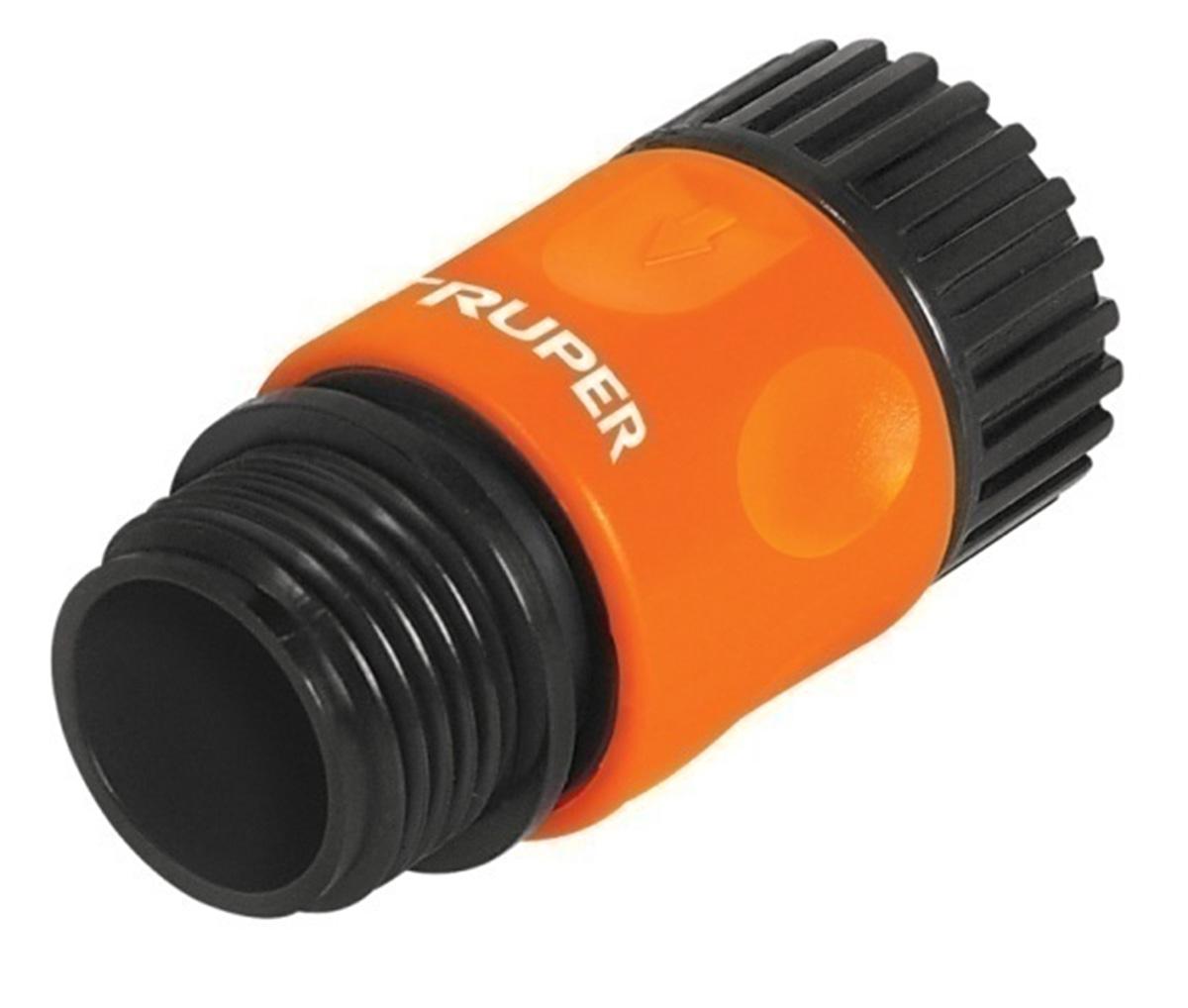 Коннектор для шланга Truper, быстрозащелкивающийся, 3/4 ороситель водяной спринклерный truper ротационный с 3 разбрызгивателями