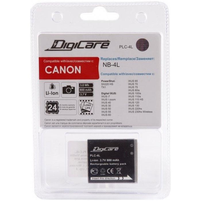 DigiCare PLC-4L аккумуляторPLC-4LDigiCare PLO-li50 - надежная и легкая аккумуляторная батарея для вашей фотокамеры. Она заменяет оригинальныйаккумулятор Canon NB-4L. Данная модель отличается быстрым процессом зарядки и продолжительным временемавтономной работы.
