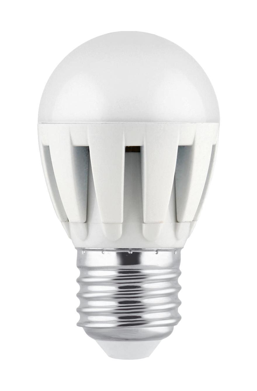 Camelion LED5.5-G45/830/E27 светодиодная лампа, 5,5ВтLED5.5-G45/830/E27Светодиодная рефлекторная лампа Camelion применяется для замены энергосберегающей лампы или лампы накаливания в точечных и направленных источниках света. При этом она сэкономит ваши деньги за счет минимального потребления электроэнергии и долгого срока службы. Так же эта лампа обладает высоким индексом цветопередачи и не мерцает, что делает ее свет комфортным для глаз. Нагрев LED лампы минимален, что позволяет использовать ее в натяжных потолках и других конструкциях, требовательных к температурному режиму.А когда она все-таки перегорит, не нужно задумываться о ее переработке, так как при производстве светодиодных ламп не используются вредные вещества, в том числе ртуть.