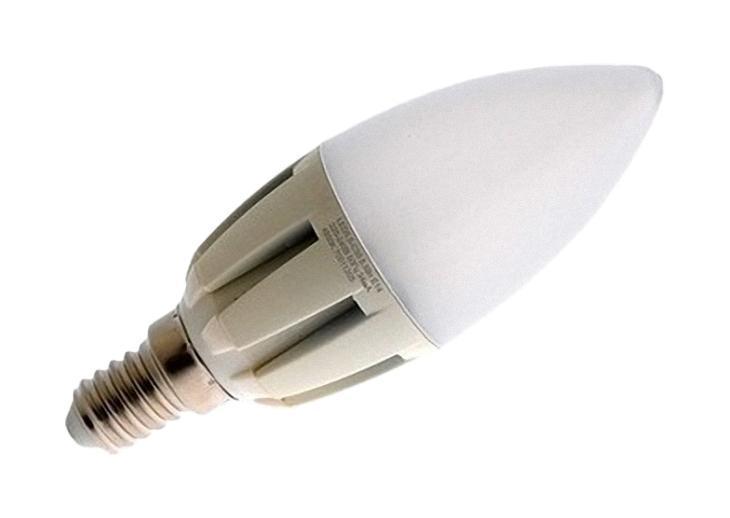 Camelion LED5.5-C35/830/E14 светодиодная лампа, 5,5ВтLED5.5-C35/830/E14Экономят до 80% электроэнергии по сравнению с обычными лампами накаливания такой же яркости.Низкое тепловыделение во время работы лампы - возможность использования в светильниках, критичных к повышенному нагреву.Встроенный ЭПРА - возможность прямой замены ламп накаливания.Универсальное рабочее положение.Включение без мерцания.Отсутствие стробоскопического эффекта при работе.Равномерное распределение света по колбе - мягкий свет не слепит глаза.Высокий уровень цветопередачи (Ra не менее 82) - естественная передача цветов.Широкий температурный диапазон эксплуатации (от -15 oC до +40 oC) - возможность использования ламп вне помещений.Рабочий диапазон напряжений - 220-240В / 50ГцВозможность выбора света различного спектрального состава - теплый белый, холодный белый и дневной белый свет.Компактные размеры - возможность использовать практически в любых светильниках, где применяются лампы накаливания.
