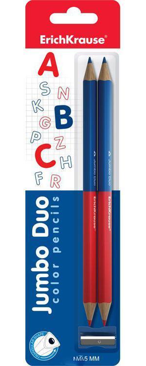 Карандаши Erich krause 2 двухцветные треугольные Jumbo c точилкой блистерAV-PNC11Карандаши цветные Erich Krause рекомендованы для обучения рисованию детей дошкольного возраста. Яркие, насыщенные цвета.Толщина грифеля — 5 мм. Эргономичная треугольная форма корпуса карандаша специально разработана нии, при падении не трескаются. Разработаны для маленьких детей — позволяют правильно держать карандаш и рисовать без напряжения. Высококачественные пигменты обеспечивают яркость и мягкость письма.