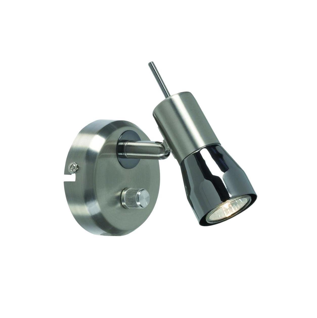 Бра MarkSLojd TITANIA 261641261641261641 Светильник настенный, TITANIA, сталь-черный хром, GU10MINI 1*35WW