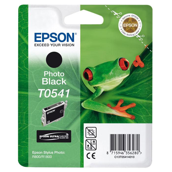 Epson T0541 (C13T05414010), Photo Black картридж для Stylus Photo R800/R1800C13T05414010Картридж Epson T054 с цветными чернилами для струйной печати. Качество устройств Epson и расходных материалов гарантируют четкую печать и устойчивость к выцветанию. Картридж прост в установке и использовании.