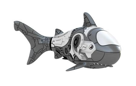 Игрушка для ванны Robofish РобоРыбка: Акула, цвет: серый