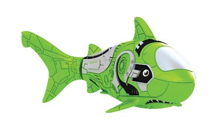 Игрушка для ванны Robofish РобоРыбка: Акула, цвет: зеленый