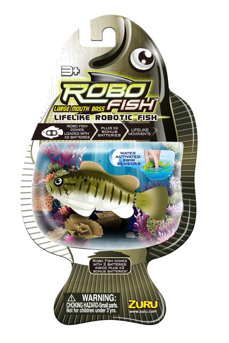 """Фото Игрушка для ванны Robofish """"Большеротый окунь"""", цвет: зеленый, серый"""
