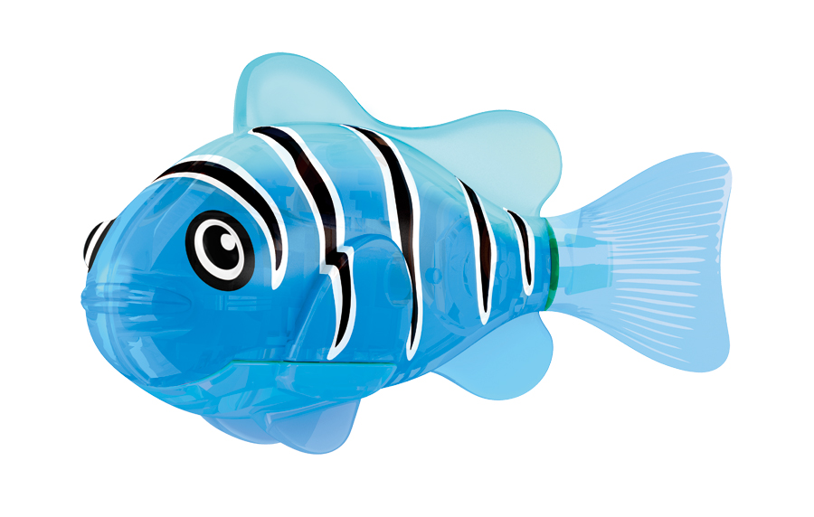 Игрушка для ванны Robofish Светодиодная РобоРыбка: Синий маяк, цвет: синий