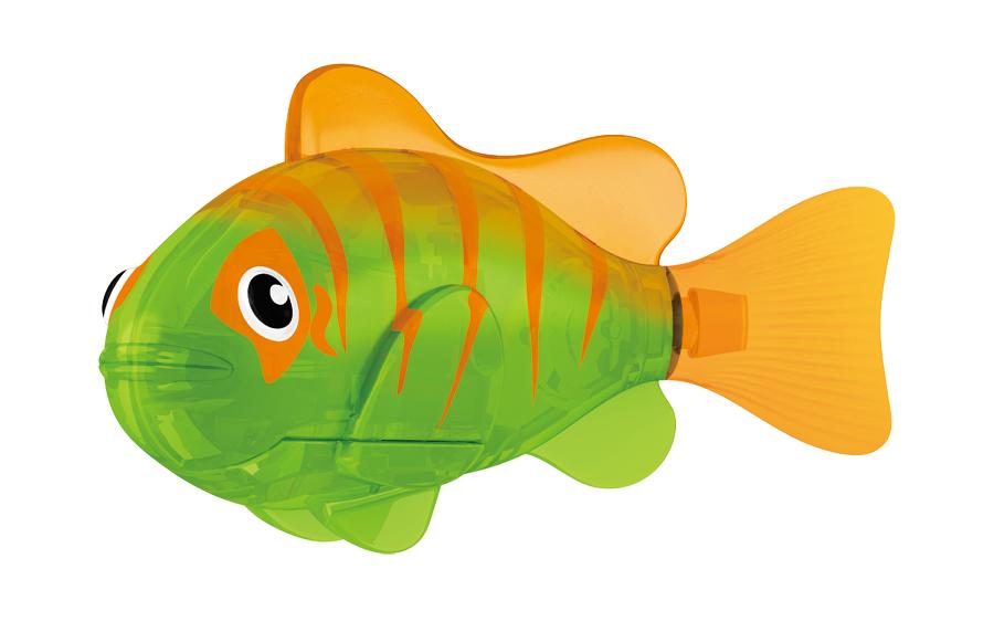 Игрушка для ванны Robofish Светодиодная РобоРыбка: Гловер, цвет: зеленый, оранжевый игрушка для ванны robofish светодиодная роборыбка биоптик цвет фиолетовый розовый