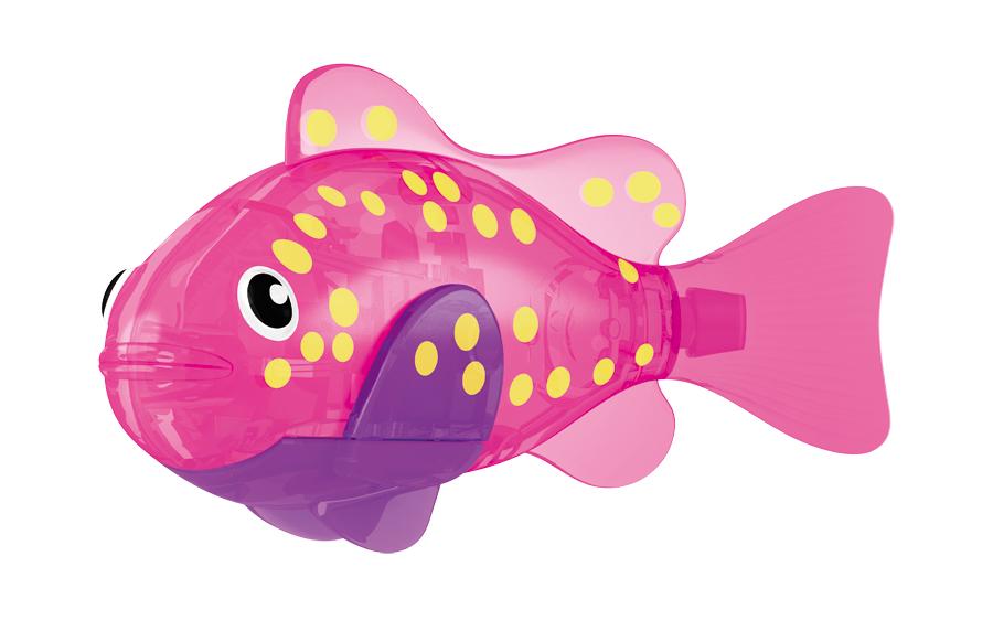 Игрушка для ванны Robofish Светодиодная РобоРыбка: Вспышка, цвет: розовый