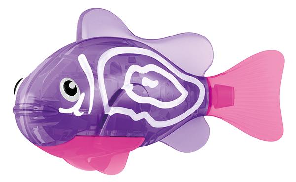 """Игрушка для ванны Robofish """"Тропическая РобоРыбка: Хромис"""", цвет: фиолетовый, розовый, Zuru Inc."""