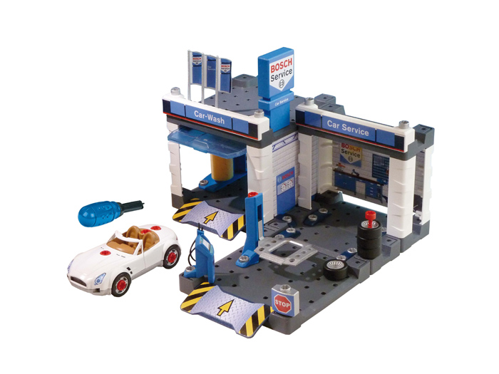 Игровой набор Klein Автосервис Bosch с мойкой и машиной для сборки