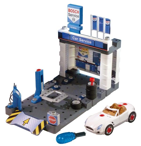Игровой набор Klein Автосервис Bosch с машиной для сборки