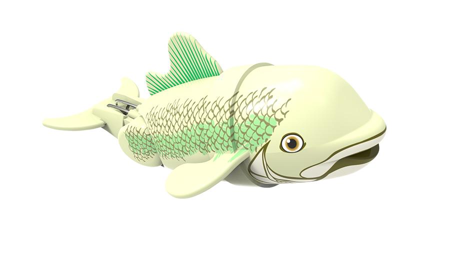 Игрушка для ванны Renwood Рыбка-акробат Бубба, цвет: светло-зеленый, зеленый игрушка для ванны renwood акула акробат джабон цвет серый белый