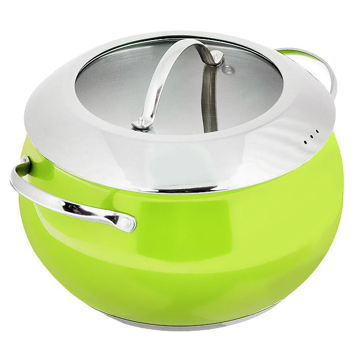 Кастрюля Esprado Ritade c крышкой, цвет: зеленый, 6 л сковорода esprado ritade