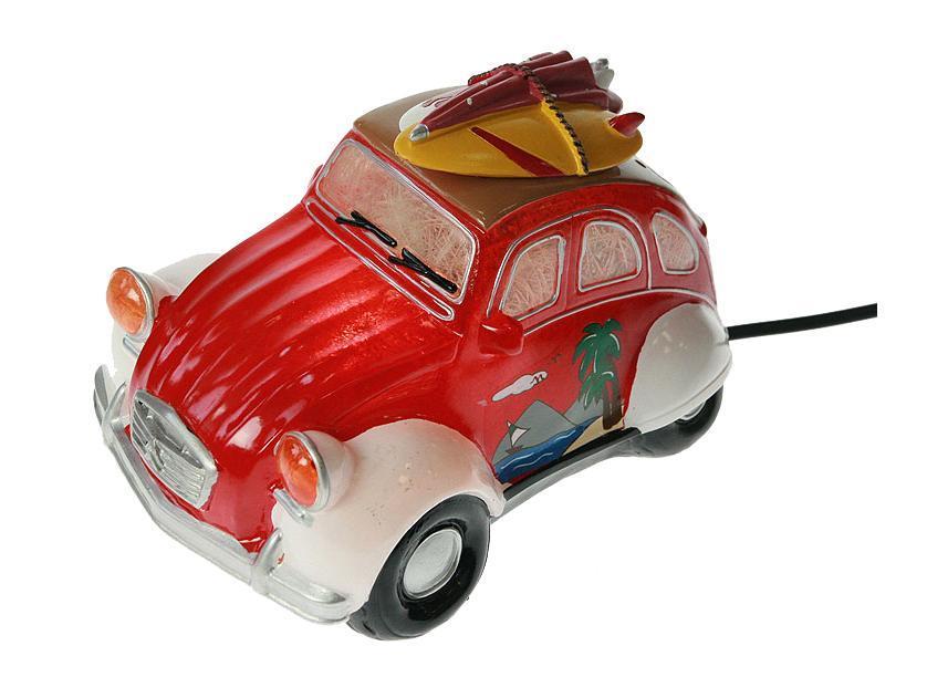 """Светильник """"Ретро авто"""" 21*14*15 см Материал: полистоун, эл. металла; цвет: красный; размеры: 21*14*15"""