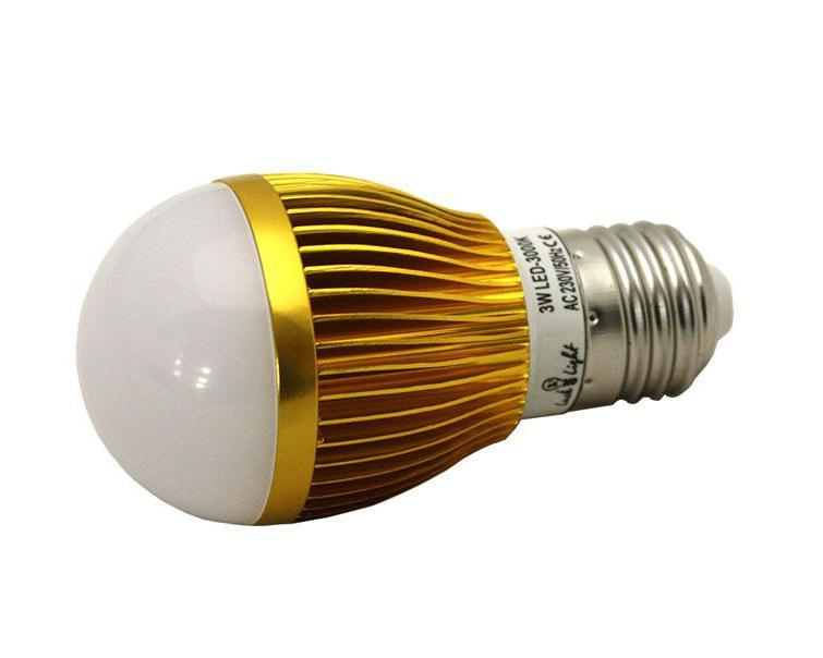 Светодиодная лампа Luck & Light, теплый свет, цоколь E27, 3W