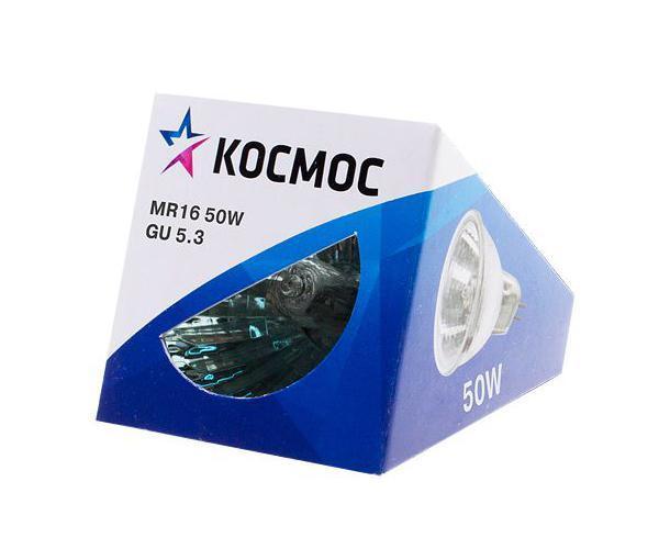 Лампа галогенная Космос. Модель MR16 50W 12V GU5.3LKsmMR1612V50WГалогенная лампа Космос выполнена с отражателем и защитным стеклом, которое обеспечивает безопасность эксплуатации лампы, предохраняя внутреннюю капсулу и отражатель от попадания пыли. Колба лампы изготовлена из кварцевого стекла с добавками, экранирующими УФ-излучение. Особенности галогенной лампы Космос стабильный и ровный световой поток на протяжении всего срока службы яркий белый свет, его четкая направленность компактный размер высокий коэффициент цветопередачи срок службы в 2 раза дольше, чем у обычной лампы накаливания стекло защищает от ультрафиолетового излучения. Характеристики:Модель:MR16 50W 12V GU5.3. Материал:стекло, металл. Диаметр: 5 см. Общая длина:4,5 см. Тип цоколя:GU5.3. Мощность:50 Вт. Средний срок службы:2000 часов. Напряжение:12 В. Размер упаковки: 5 см х 5 см х 5 см. Производитель: Россия. Изготовитель: Китай.Российская марка Космос была создана в 2000 году, чтобы обеспечить вас качественными и доступными электротоварами. Продукция под маркой Космос производится на лучших заводах шести стран мира: России, Украины, Белоруссии, Китая, Кореи и Японии. Перед тем как попасть на магазинные полки, лампы проходят многоуровневый контроль качества, осуществляемый независимой международной лабораторией. Лампы Космос соответствуют международным стандартам качества ISO 9001 и, наряду с российским сертификатом соответствия РосТест, имеют европейский сертификат RoHS, СЕ.Срок службы ламп Космос 10 000 часов, что в 10 раз больше обычной лампы накаливания!