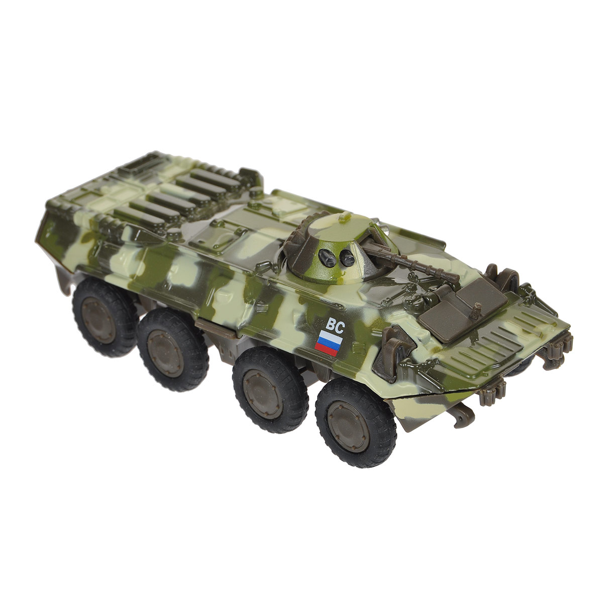 ТехноПарк Бронетранспортер БТР 80 цвет камуфляж zvezda модель для склеивания советский бронетранспортер бтр 80