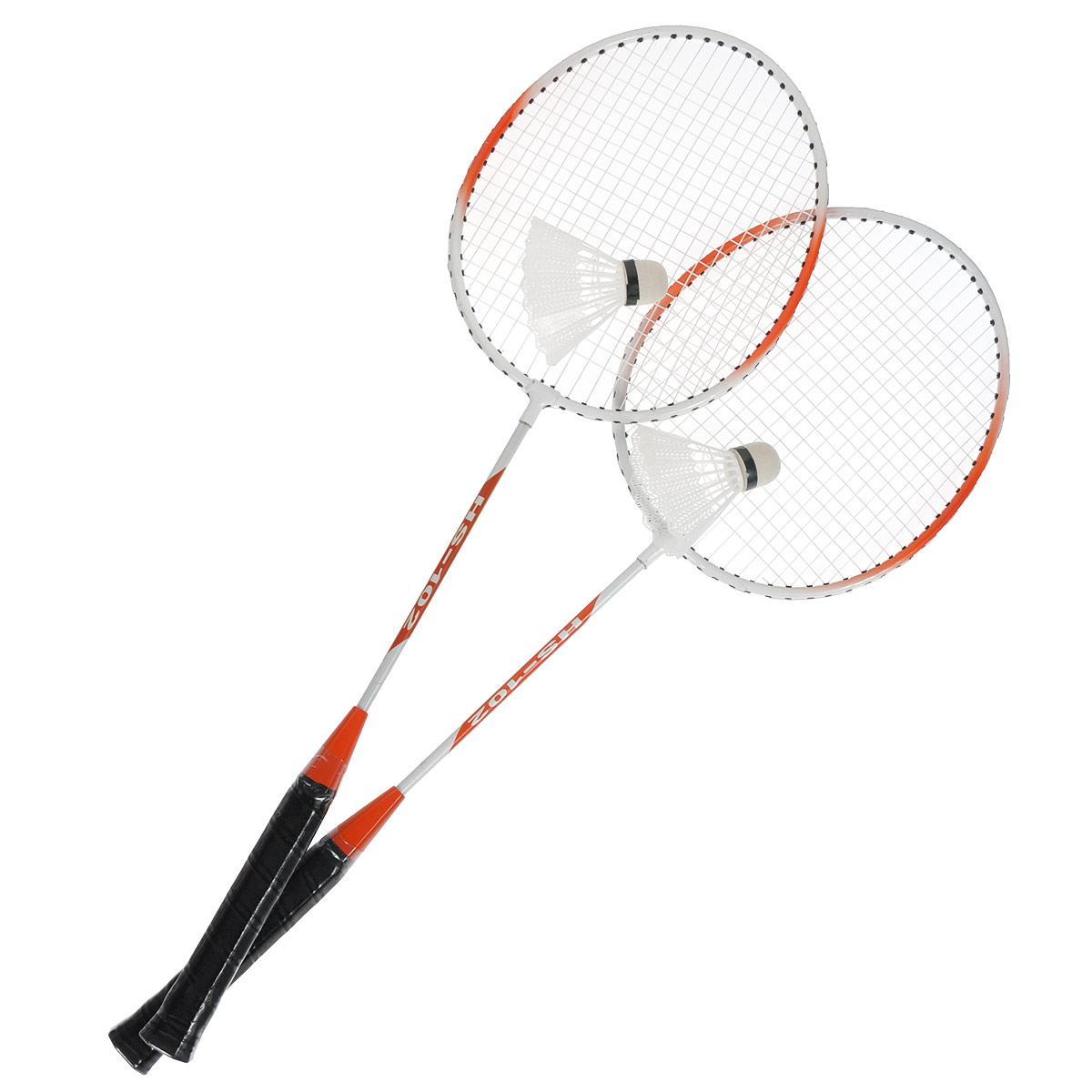 Набор для бадминтона Dr.Queen, цвет: красно-оранжевый. HS-102HS-102Набор для бадминтона Dr.Queen поможет вам весело и с пользой для здоровья провести время на свежем воздухе. В набор входят две ракетки и два волана для бадминтона, упакованные в чехол с регулируемым ремнем для переноски на плече или в руке. Ручки ракеток покрыты нескользящим материалом, что сделает игру еще комфортнее. Игра в бадминтон развивает ловкость, силу, глазомер и быстроту реакции. Порадуйте своего непоседу таким замечательным подарком!