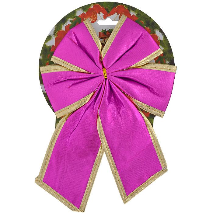 Новогоднее украшение Бант розовый. 35361