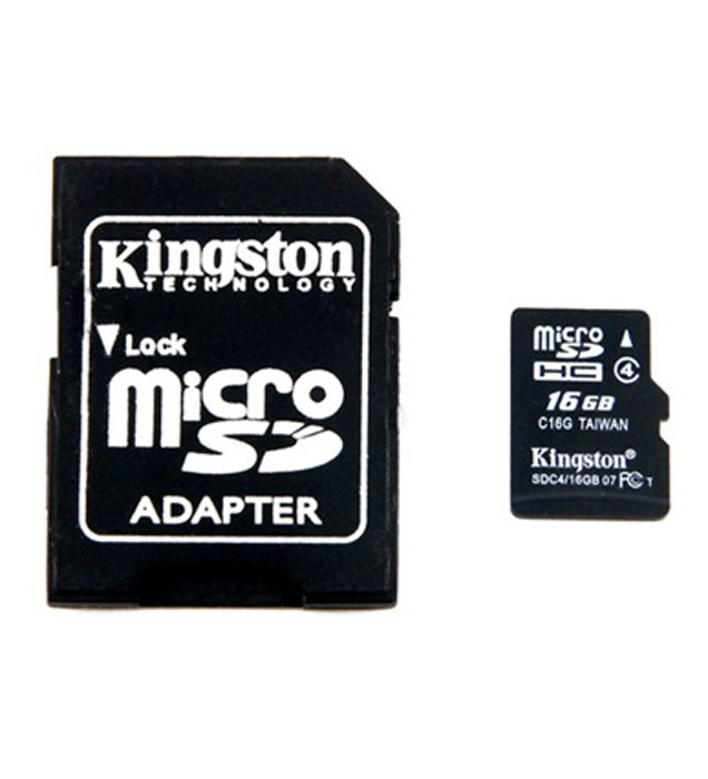 Kingston microSDHC Class 4 16GB карта памяти с адаптером jd коллекция дефолт mc 4 4 фото карта tf cf карты 8 8 чжан xd карты листов
