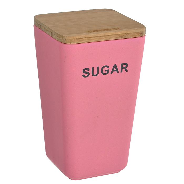 Контейнер для сыпучих продуктов Frybest Bamboo, цвет: розовый, высота 19 смBM-06-3Контейнер для сыпучих продуктов Frybest Bamboo изготовлен из бамбукового волокна - экологически чистого материала, который не содержит примесей и токсинов, что важно для здоровья человека. Кроме того, это биоразлагаемый материал, который не вредит окружающей среде. Контейнер с надписью Sugar специально предназначен для хранения сахара, но в нем также можно хранить крупы, специи, кофе, сухофрукты, орехи и другие сыпучие продукты. Изделие оснащено плотно закрывающейся деревянной крышкой с силиконовой прослойкой, что обеспечивает герметичность и дольше сохраняет продукты свежими.Натуральная посуда из бамбукового волокна поможет собрать за одним столом большую компанию. А яркие и красочные цвета станут отличным украшением к детскому празднику! Можно использовать при температуре от -20°С до +70°С. Максимальное использование при температуре +70°С не более двух часов. Не использовать в микроволновой печи.