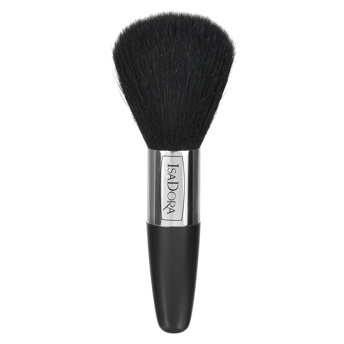 Isa Dora Кисть для бронзирующей пудры Bronzing Powder Brush119246Кисть Isa Dora Bronzing Powder Brush - большая, округлой формы с удобной толстой ручкой, подходит для нанесения компактной и рассыпчатой пудры. Кисть позволяет корректировать макияж в течение дня, обеспечивает безупречное распределение пудры на коже, комфортное, аккуратное и равномерное нанесение.Кисть изготовлена из 100% натурального ворса, стерилизованного в процессе производства. Основная поверхность кисти имеет округлую форму, каждый волосок скруглен и не повреждает нежную кожу лица. Ручка кисти сделана из высококачественного пластика. Товар сертифицирован.