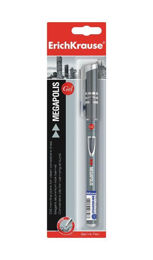 Ручка гелевая Erich Crause Megapolis Gel, цвет: синийEK17751