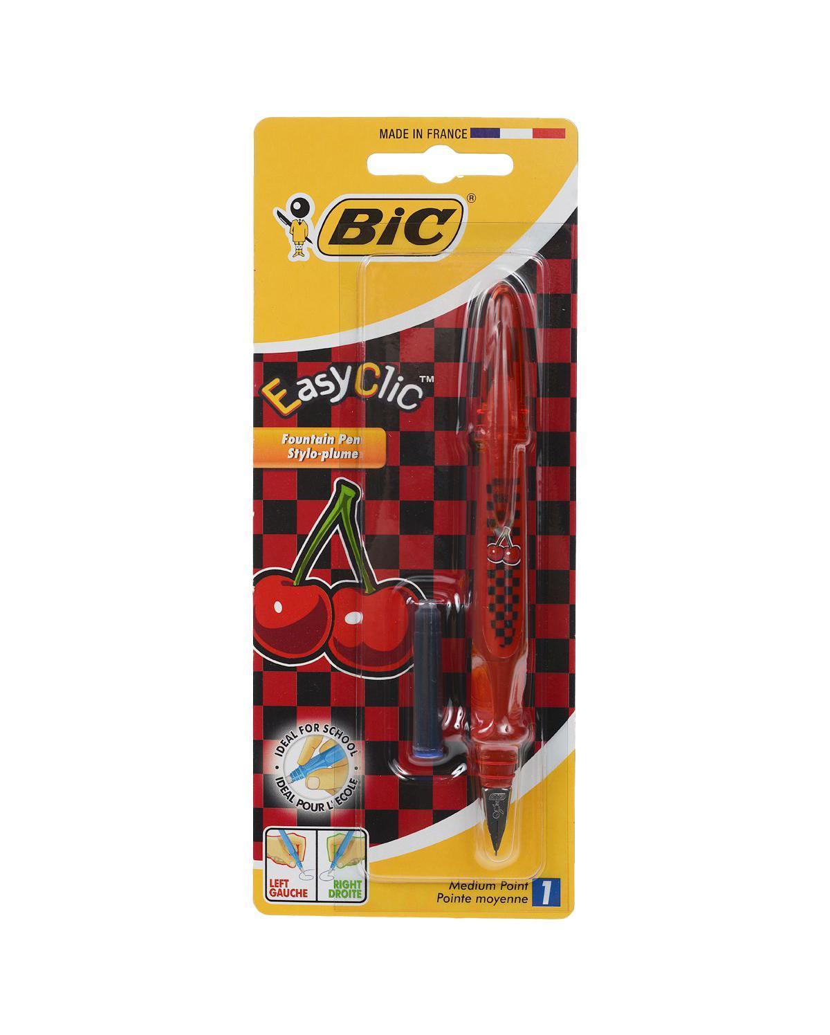 Ручка перьевая Bic Easy Clic: Вишня, цвет: красныйNBC8794113