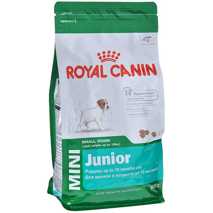 Корм сухой Royal Canin Mini Junior, для щенков мелких пород в возрасте от 2 до 10 месяцев, 800 г2929Сухой корм Royal Canin Mini Junior является полнорационным кормом для щенков мелких собак (вес взрослой собаки от 1 до 10 кг) в возрасте до 10 месяцев.Особенности корма Royal Canin Mini Junior:Укрепляет иммунную защиту;Способствует прекрасному аппетиту щенка;Обеспечивает хорошую работу пищеварения;Крокеты обладают оптимальной текстурой и адаптированы к маленьким зубам.Состав: дегидратированные белки животного происхождения (птица), рис, животные жиры, изолят растительных белков, кукуруза, свекольный жом, кукурузная мука, гидролизат белков животного происхождения, кукурузная клейковина, соевое масло, рыбий жир, минеральные вещества, фруктоолигосахариды, гидролизат дрожжей (источник мaннановых олигосахаридов), экстракт бархатцев прямостоячих (источник лютеина).Пищевые добавки на 1 кг: витамин А 17300 МЕ, витамин D3 1000 МЕ, железо 43 мг, йод 3,4 мг, марганец 56 мг, цинк 186 мг, селен 0,07 мг, триполифосфат натрия 3,5 г, консервант, антиокислители. Питательные вещества: белки 31%, жиры 20%, минеральные вещества 6,8%, клетчатка 1,4%, медь 15 мг/кг.Товар сертифицирован.