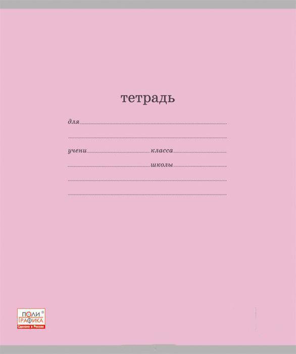 Полиграфика Набор тетрадей Классика 24 листа в линейку цвет розовый 10 шт80Т5В1гр_замок Пелеш