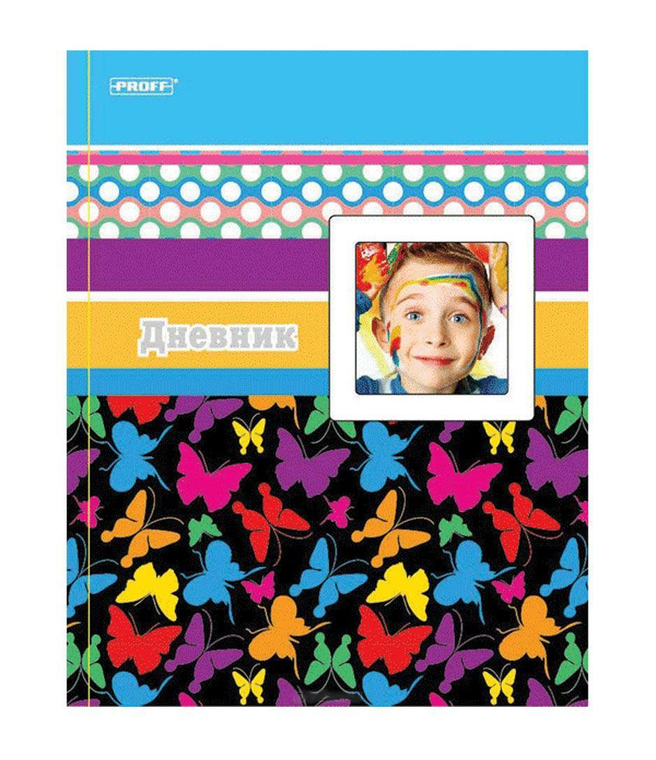 Дневник школьный Proff Butterfly, тонир. офсет/твердая обложка из художеств. бумаги/тиснение фольгой/рамка для фотографииAD-22