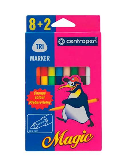 Фломастеры Magic, 8 цветов + 2 поглотителя1510-09
