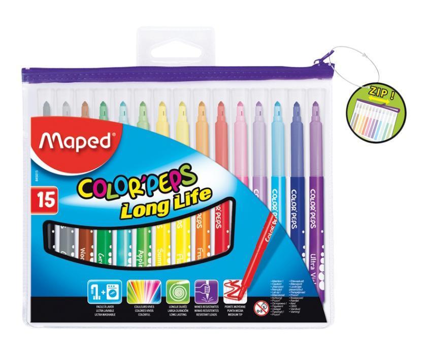 Фломастеры Maped Color'peps, 15 цветов