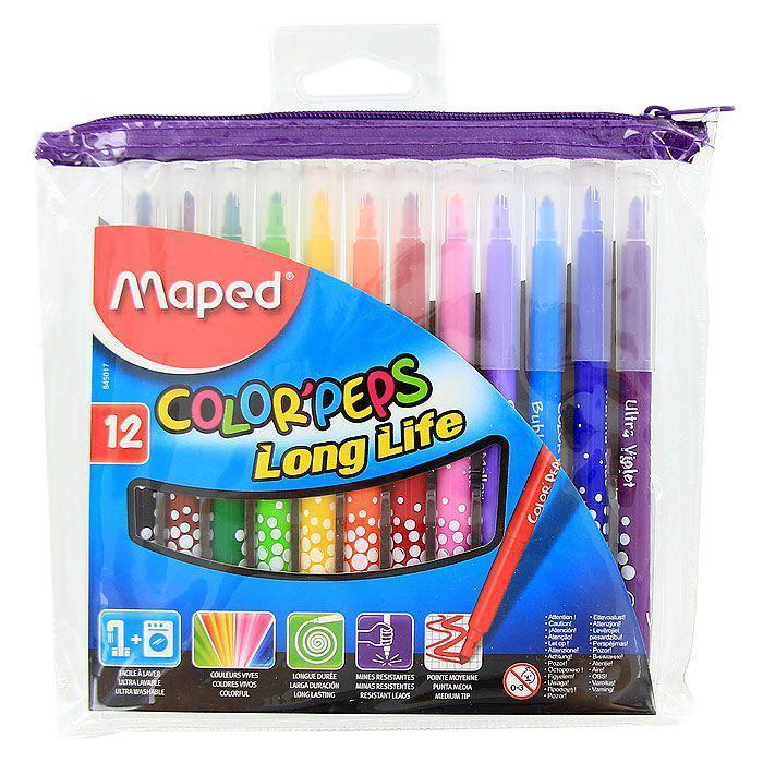 Фломастеры Maped Color'peps, 12 цветов цена