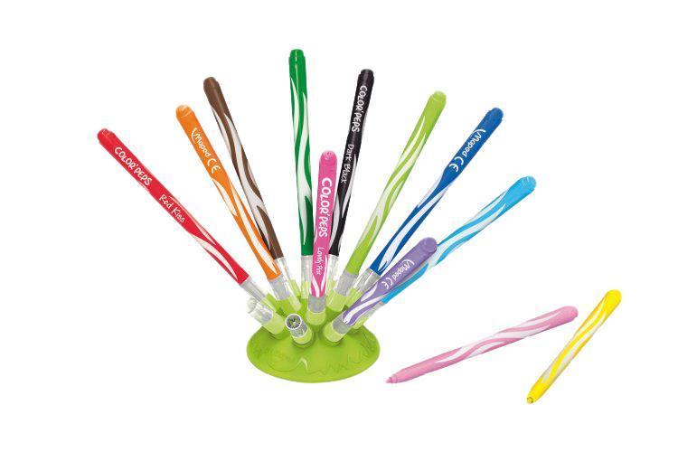 Фломастеры Maped на подставке, 12 цветов набор цветных карандашей maped color peps 12 шт 683212 в тубусе подставке