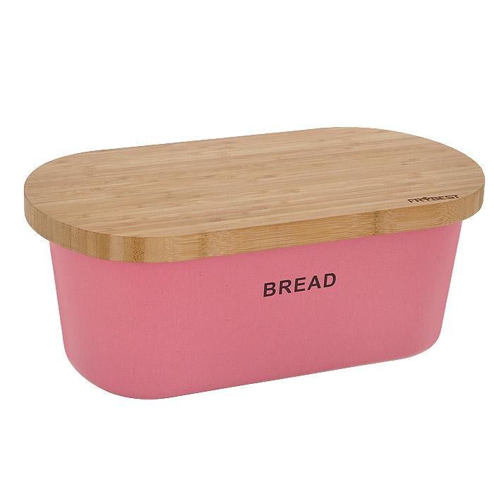 Хлебница Frybest Bamboo, с разделочной доской, цвет: розовый. BM-01-2BM-01-2Хлебница Frybest Bamboo состоит из глубокой чаши розового цвета и двусторонней разделочной доски, которая также служит крышкой. Чаша изготовлена из бамбукового волокна - экологически чистого материала, который не содержит примесей и токсинов, что важно для здоровья человека. Кроме того, это биоразлагаемый материал, который не вредит окружающей среде. Разделочная доска выполнена из древесины бамбука. На одной из сторон имеется 7 желобков для стока жидкости. Натуральная посуда из бамбукового волокна - это строгая элегантность и изящество. Прекрасный выбор для тихого романтического ужина на террасе. Вместительность, функциональность и стильный дизайн позволят хлебнице Frybest Bamboo стать не только незаменимым аксессуаром на кухне, но и предметом украшения интерьера. В ней хлеб всегда останется свежим и вкусным.Можно использовать при температуре от -20°С до +70°С. Максимальное использование при температуре +70°С не более двух часов. Не использовать в микроволновой печи.