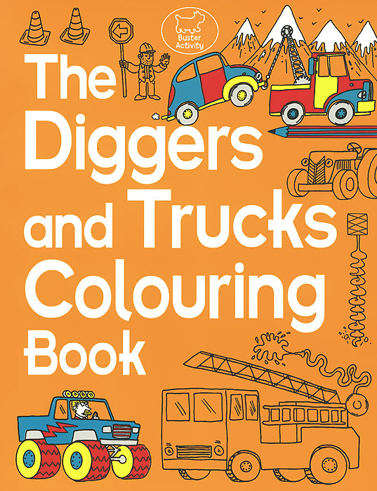 The Diggers and Trucks Colouring Book monster trucks