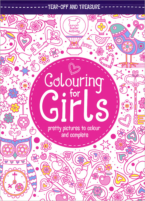Colouring for Girls: Pretty Pictures to Colour and Complete folk art patterns to colour