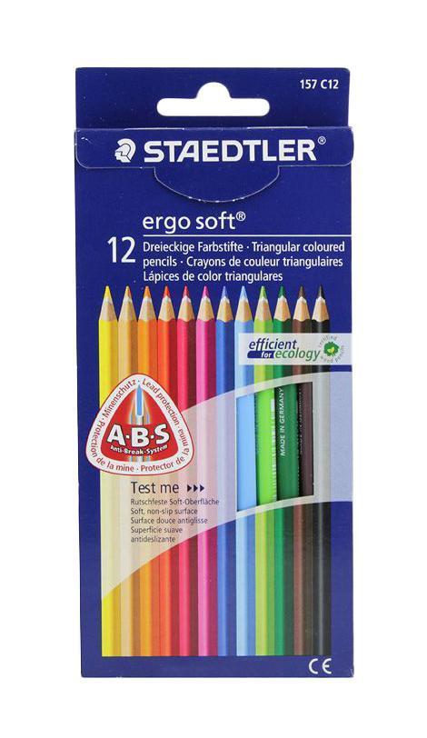 Staedtler Набор цветных карандашей Ergosoft 157 12 цветов bic набор цветных карандашей aquacouleur 12 цветов